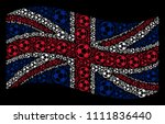 waving british state flag on a... | Shutterstock .eps vector #1111836440