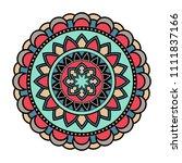 vector mandala isolated on...   Shutterstock .eps vector #1111837166