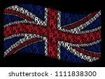 waving great britain flag on a... | Shutterstock .eps vector #1111838300