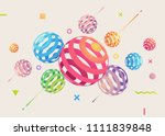 abstract vector background with ... | Shutterstock .eps vector #1111839848