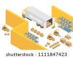 warehouse isometric 3d... | Shutterstock .eps vector #1111847423