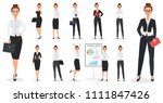 set of young pretty business... | Shutterstock .eps vector #1111847426