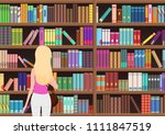 young pretty blond woman... | Shutterstock .eps vector #1111847519