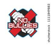 stop bullying  no bullying logo ... | Shutterstock .eps vector #1111849883