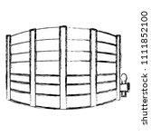 grunge side barrel liquor...   Shutterstock .eps vector #1111852100