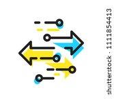 transfer icon  vector... | Shutterstock .eps vector #1111854413