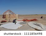 Small photo of Installation of nomad yurts