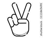 peace hand gesture icon   Shutterstock .eps vector #1111865690