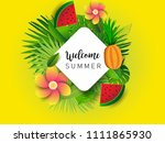 summer vector banner design... | Shutterstock .eps vector #1111865930