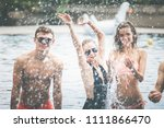 pool party summer concept ... | Shutterstock . vector #1111866470
