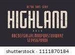 highland vector condensed bold...   Shutterstock .eps vector #1111870184