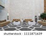 Stock photo interior of modern office lobby 1111871639
