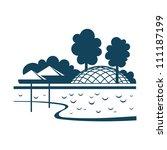 vector illustration of city... | Shutterstock .eps vector #111187199