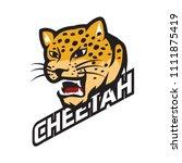 cheetah logo  vector...   Shutterstock .eps vector #1111875419
