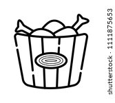 fried chicken icon vector | Shutterstock .eps vector #1111875653