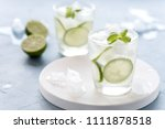 healthy lemonade lime with... | Shutterstock . vector #1111878518
