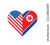 united states and north korea... | Shutterstock .eps vector #1111882004