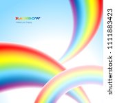 there are thee rainbows in the... | Shutterstock .eps vector #1111883423