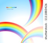 there are thee rainbows in the... | Shutterstock .eps vector #1111883426