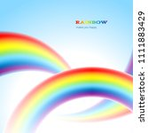 there are thee rainbows in the... | Shutterstock .eps vector #1111883429