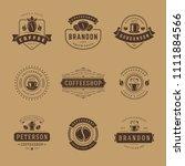 coffee shop logos design... | Shutterstock .eps vector #1111884566