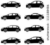 Stock vector silhouette cars on a white background vector illustration 111188486