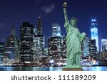 manhattan skyline and the... | Shutterstock . vector #111189209