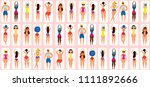 summer seamless pattern with... | Shutterstock .eps vector #1111892666