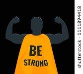 be strong motivational gym... | Shutterstock .eps vector #1111894418