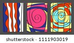 abstract geometric backgrounds... | Shutterstock .eps vector #1111903019