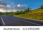 empty road in romania   Shutterstock . vector #1111903280