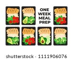 vector illustration of meal... | Shutterstock .eps vector #1111906076