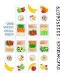 vector illustration of meal... | Shutterstock .eps vector #1111906079