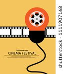 movie and film abstract modern... | Shutterstock .eps vector #1111907168