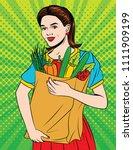 vector colorful pop art style...   Shutterstock .eps vector #1111909199
