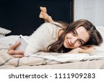 a wonderful long haired girl in ... | Shutterstock . vector #1111909283