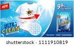 laundry detergent  stain... | Shutterstock .eps vector #1111910819