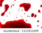 blood drops on a white... | Shutterstock . vector #1111911059