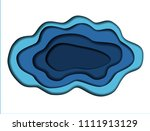 vector background with deep... | Shutterstock .eps vector #1111913129