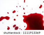 blood spilled on a white... | Shutterstock . vector #1111913369