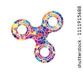 fidget spinner sign. vector.... | Shutterstock .eps vector #1111915688