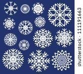 vector snowflakes set | Shutterstock .eps vector #111191663
