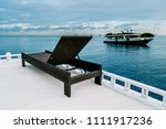 sunbed on the roof of a boat in ... | Shutterstock . vector #1111917236