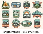 set of summer camp badges.... | Shutterstock .eps vector #1111924283