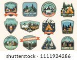 set of summer camp badges.... | Shutterstock .eps vector #1111924286