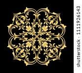 golden vector pattern on a... | Shutterstock .eps vector #1111926143