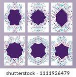 geometric abstract brochure... | Shutterstock . vector #1111926479