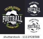 ball for european football with ... | Shutterstock .eps vector #1111928588