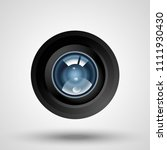 realistic camera lens with... | Shutterstock .eps vector #1111930430
