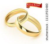 wedding rings set of gold metal ...   Shutterstock .eps vector #1111931480